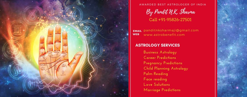 Best Astrologer In Abu Dhabi +91 95826 27501 Pt. N K Sharma