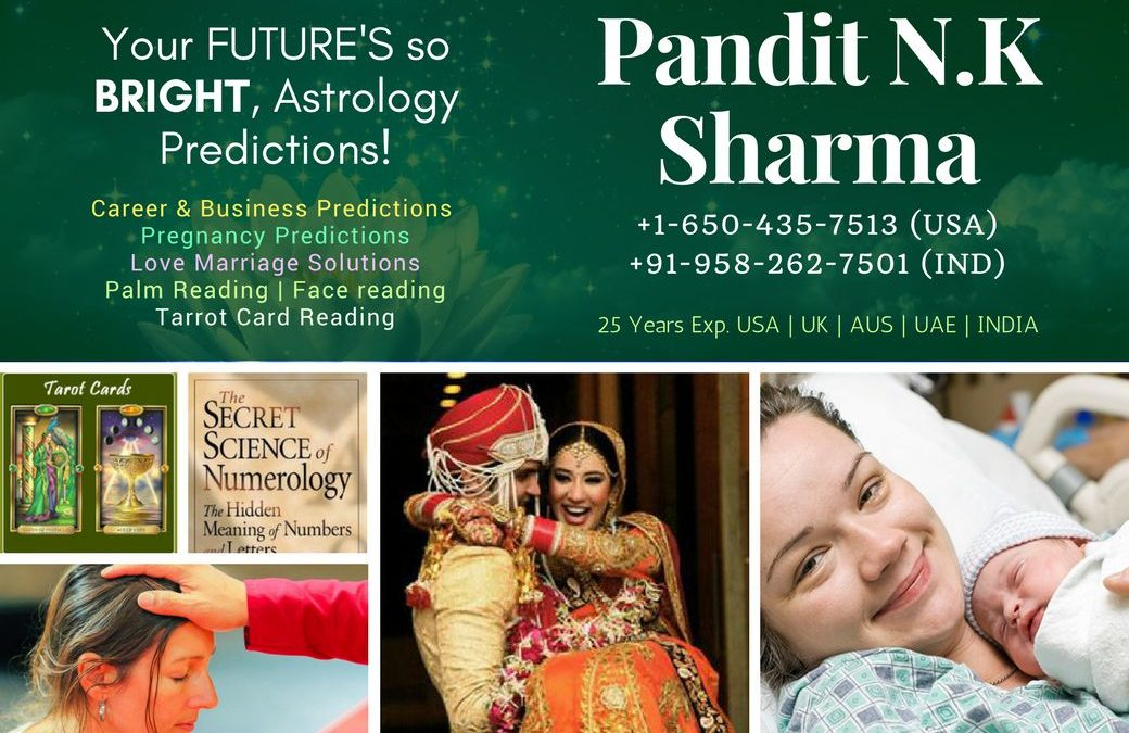 Best Psychic/Astrologer In New Jersey +1-650-435-7513 Pt.N K Sharma