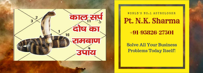 Kaal Sarp Dosh Specialist Astrologer Pandit N K Sharma +91-9582627501